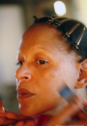 Nicole Dogue comedienne, tournage de Molloch tropical, de Raoul Peck, Haiti 2009