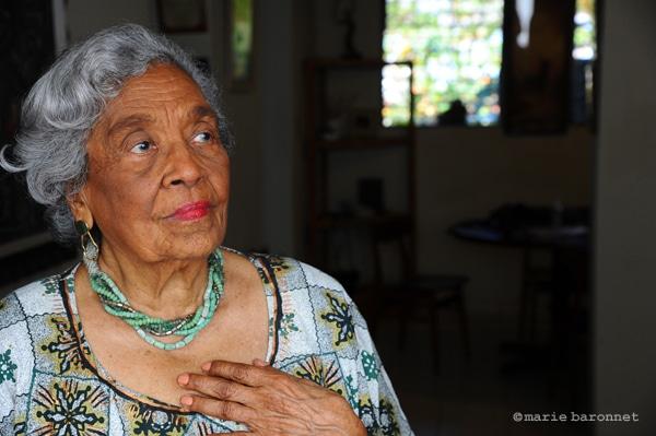 32 Odette Roy Fombrun ecrivain activiste, Port au Prince Haiti 2011