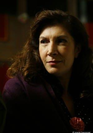 33 Lorella Cravotta comedienne, tournage des emotifs anonymes de Jean-pierre Ameris Paris 2009
