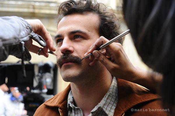41 Stephane Rideau comedien, tournage de Brassens la mauvaise reputation de Gerard Marx, Paris 2011