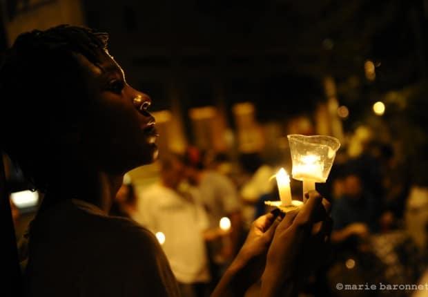 90.Vigil pendant l'une des manifestation contre la loi SB1070, Tucson Arizona 2010