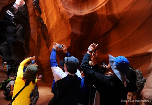 Antelope Canyon Arizona 2013. More than 160, 000 walk through those narrows each year