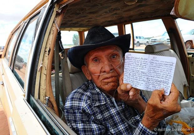 Tulie Palooka Hurley Scription House Arizona 2013. Tulie keeps its his Navajo diary since 1940