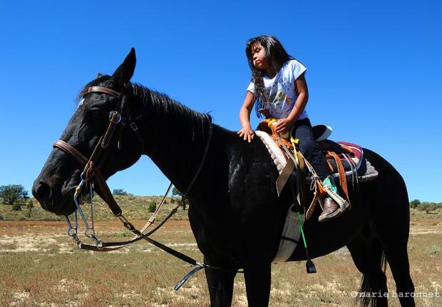 Alyia Jhonson Pinion Arizona 2013. Alyia 5 prepares for her next rodeo contest