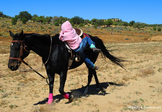 Alyia Johnson Pinion Arizona 2013. Alyia trains with her favorit horse