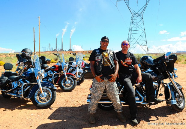 On highway 98 Arizona 2013. Bykers Greed and power plant