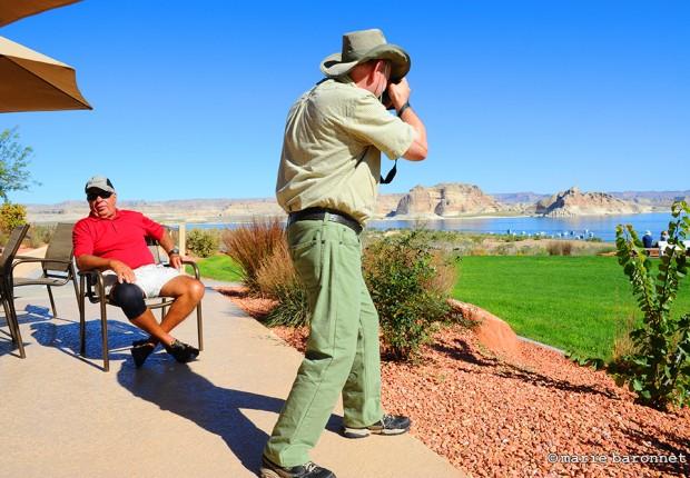 Lake powell resort Arizona 2013. Picture hunting from the edge