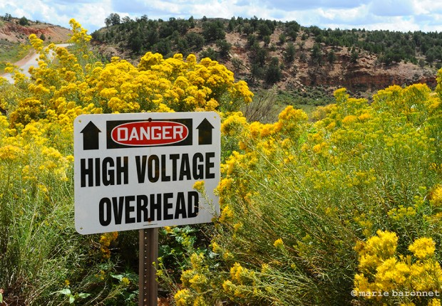 Black Mesa Arizona 2013. Electricity is abundant up in the air but 18 000 in the area have no electicity