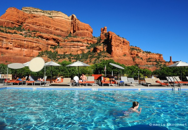 The enchantment resort Sedona Arizona 2013. A luxury resort and spa sells the red rock views and their healing power