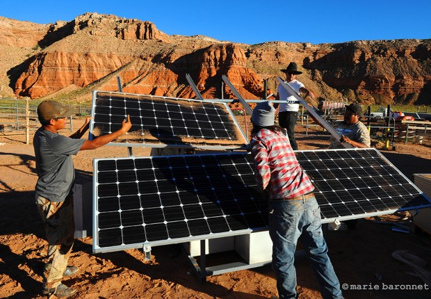 "Baby Rocks Arizona 2013.  Brett Isaac founded Shonto Energy, a local grass root organization producing solar panels. ""Navajo Generating Station will have to adapt. We just want to be the solution"""